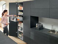 Kitchen Room Design, Modern Kitchen Design, Home Decor Kitchen, Kitchen Interior, Kitchen Ideas, Kitchen Buffet, Kitchen Cabinets, Black Kitchens, Cool Kitchens