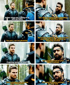 """#Arrow #Season5Finale #5x23 - """"-You say that like it's easy. -It's the hardest thing in this world."""""""