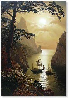 Beautiful. Art painting wonderful style by Vlaschenko Valentine.
