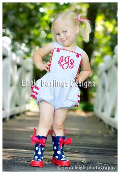 Adorable Girls Monogrammed Ruffle Tush by LilDarlingsDesigns, $45.00