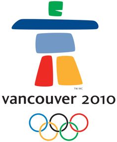 Official logo of the 2010 Vancouver Olympic Games in Vancouver, Canada.