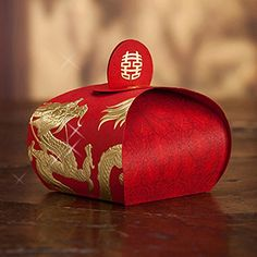 Red Chinese Style Wedding Favor Candy Box Party Gift Box