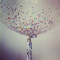 Put confetti in your balloon.