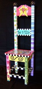 Image detail for -Whimsical, Painted Furniture. (could children paint/design their own furniture? Art Furniture, Painting Kids Furniture, Funky Furniture, Repurposed Furniture, Furniture Projects, Painting On Wood, Furniture Design, Children Furniture, Chair Design