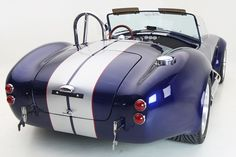 Backdraft Racing - Indi Blue with Silver Stripes (Red Outline)