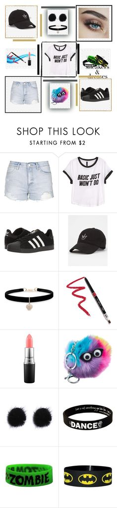 """""""Tomboy 6"""" by peace4ak ❤ liked on Polyvore featuring Topshop, H&M, adidas, Betsey Johnson, Dollup Beauty, MAC Cosmetics, Peace Love World and Goodie Two Sleeves"""