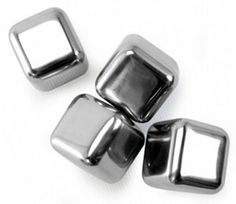 """Danesco Ice Cubes - Reusable - Stainless steel by Danesco. $24.99. Dimensions: 1""""L × 1""""W × 1""""H. Set of 4. These reusable and food-safe ice cubes won't melt and dilute the taste of your drink. Each cube.... These reusable and food-safe ice cubes won't melt and dilute the taste of your drink. Each cube is filled with a non-toxic gel that is safely sealed inside each cube to keep them extra cold. Smooth rounded edges won't scratch glasses. Simply rinse in water and place in the f..."""