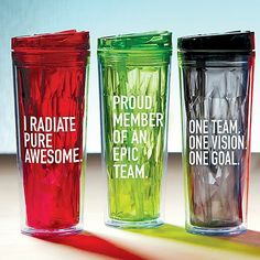 vibrant prism tumbler i radiate pure awesome staff giftsclient