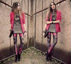 Labellamafia Legging, Romwe T Shirt