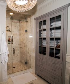Bathroom Cabinets Lowes For Linen Closet With Drawers And Shower Decor Also Tile Shower Walls With Glass Shower Doors And Bathmat Plus Lowes Bathroom Cabinets With Tile Floors And Chandelier