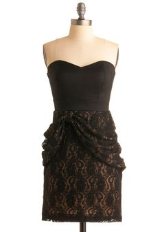 strapless black lace formal dress from: modcloth