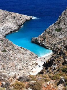 This is my Greece | Seitan Limania a well-hidden beach located at the east side of Akrotiri, near the airport of Chania on Crete island