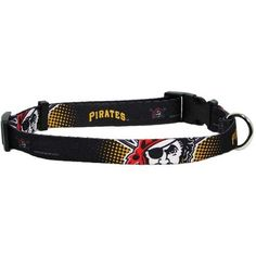 Pittsburgh Pirates Baseball Printed Dog Collar - Black. Hit on out of the park with this exciting Pittsburgh Pirates Baseball Printed Dog Collar in Black! Officially Licensed Product. Quick snap collar. Adjustable. Why We Love It:Show support of your favorite team with this adjustable nylon officially licensed Major League Baseball Pittsburgh Pirates dog collar! Full color printed logos. This collar closes with a hard plastic locking clasp for easy access on and off.Important Sizing…
