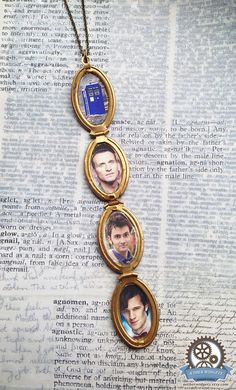 THE DOCTORS LOCKET doctor who bbc steampunk geek nerd locket necklace