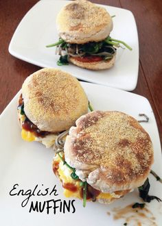 Homemade English Muffins - makes the best breakfast sandwiches! #vegan