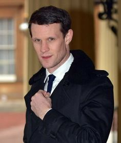 Matt Smith - suited up at Buck House