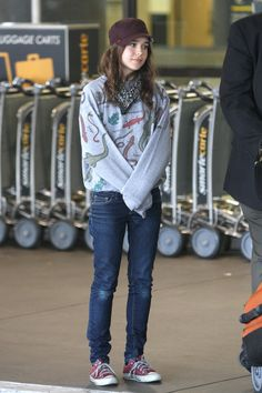 Ellen Page style. I wish I could pull this off as well as she does :E