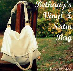 Me Sew Crazy: Bethany's Vinyl & Satin Bag...Make it Work