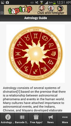 The final and popular app about Astrology Guide! <p>This is the most amazing app you will find when it comes to information about Astrology Guide. <p>Get the latest updates, news, information, videos, photos, events and amazing deals for Astrology Guide app lovers.<br> <br>Download this app now! <p>Astrology consists of several systems of divination based on the premise that there is a relationship between astronomical phenomena and events in the human world.<p>Discover everything you want…
