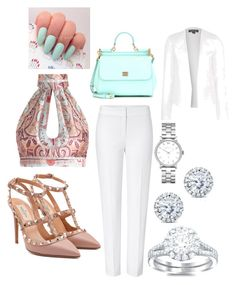 """Untitled #1"" by lbaker-ct on Polyvore featuring Zimmermann, ESCADA, Valentino, Dolce&Gabbana, Marc by Marc Jacobs, Kobelli and Topshop"