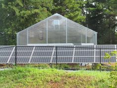 Solar Panels Powering Hydroponic Greenhouse