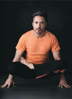 Robert Downey Jr. does yoga :)
