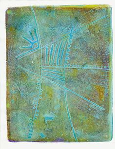 Approachable Art by Judi Hurwitt: Great tutorial for easy intaglio prints with Gelli plate