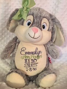 Easter giftspersonalized baby gift birth announcement birth easter giftspersonalized baby gift birth announcement birth blocksubway style birth stats monogrammed stuffed animal christian gifts personalized negle Image collections