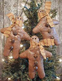 Flannel gingerbread men