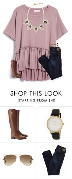"""""""i know when that hotline bling"""" by smileyavenuegirl ❤ liked on Polyvore featuring Tory Burch, Therapy, Kate Spade, Ray-Ban and American Eagle Outfitters"""