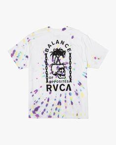 rvca, Chain Of Balance T-Shirt, WHITE (wht) Eclipse T Shirt, Boxing T Shirts, Mens Tees, Tee Shirts, Chain, Women, Outfit, Art, T Shirts