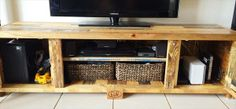 Pallet Coffee Table with Matching TV Cabinet | Wooden Pallet Furniture