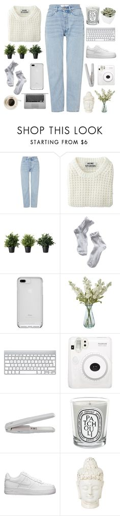 """""""[07]"""" by voidelle ❤ liked on Polyvore featuring Won Hundred, Acne Studios, 1937, Shabby Chic, Fuji, Diptyque, NIKE and Abigail Ahern"""