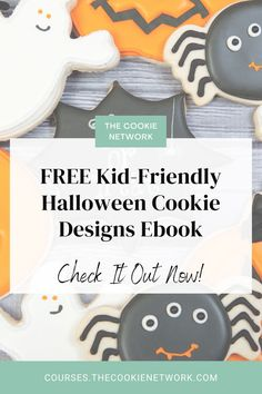 Do you love making cookies with your kids at Christmas? Have you ever thought to do it for another holiday? This FREE ebook is for you! In it you'll learn how to make kid-friendly designs for Halloween. #thebearfootbaker #thecookienetwork Making Cookies, How To Make Cookies, Halloween Season, Spooky Halloween, Halloween Cookies Decorated, Cookie Decorating Party, Spooky Eyes, Cookie Designs, Free Ebooks