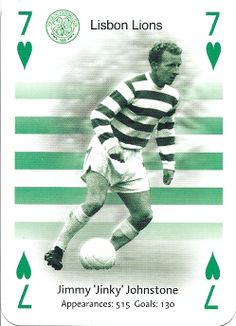 Lisbon Lions - Jimmy Johnstone of Celtic. Association Football, Celtic Fc, Football Pictures, Happy Life, Lions, Baseball Cards, Glasgow, Sports, Sport