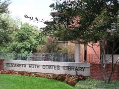 Front of the Coates Library