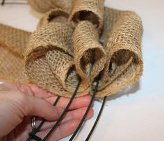 Great tutorial. The easiest burlap wreath tutorial I've found.