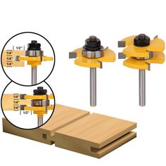 """14.43$ Buy now - http://aliicd.shopchina.info/go.php?t=32764283171 - """"1Set Tongue & Groove Router Bit Set 3/4"""""""" Stock 1/4"""""""" Shank 3 Teeth T-shape Wood Milling Cutter Flooring Wood Working Tools"""" 14.43$ #SHOPPING"""