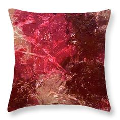 #Minimalist Textured Red Throw Pillow in 5 Sizes! #WineLovers #HomeDecor #texture #textiledesign #modernhome #gftsforher