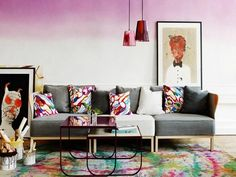 Pintura de efecto degradé para las paredes | Decorar tu casa es facilisimo.com