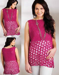 Ravelry: Reina Lace Tank pattern by Angelia Robinson