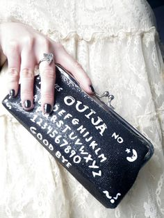 Sparkly Ouija Board clutch purse by lotusfairy on Etsy, $25.00