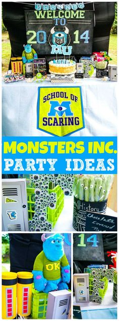 Check out this Monsters University party starring Mike Wazowski! See more party ideas at CatchMyParty.com!
