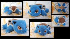 If there were such a thing as a baby Blastoise, this is how I would imagine him  He is a bit larger than Squirtle and Wartortle.  Eyes, nails, and details are needle felted.  Unfortu...