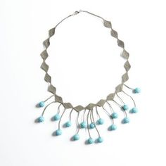 Oya-Kette Kugeln aqua (Nadelspitze) Turquoise Necklace, Aqua, Jewelry, Fashion, Accessories, Schmuck, Chain, Moda, Water