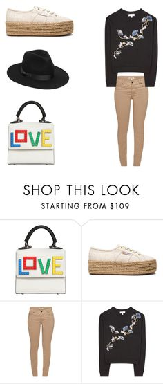 """""""Untitled #1977"""" by elsie-jones ❤ liked on Polyvore featuring Les Petits Joueurs, Superga, Barbour, Carven and Lack of Color"""