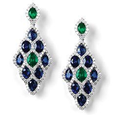 """Osmington"" Diamond & Gemstone Earrings - Diamond & Gemstone Earrings | Earrings | Diamond Jewellery"