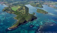 Ilet Petite Grenade, Baie des mulets à l'extrême droite de la photo....