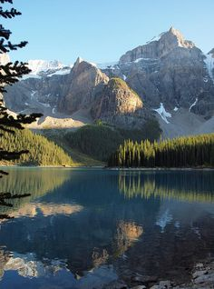 Poster Print Wall Art Print entitled Moraine Lake in Banff National Park, Canada Beautiful World, Beautiful Places, Landscape Photography, Nature Photography, Places To Travel, Places To Visit, Banff National Park Canada, Moraine Lake, Mountain Landscape