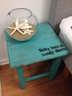 DIY nightstands... Breathe life into old wooden stools